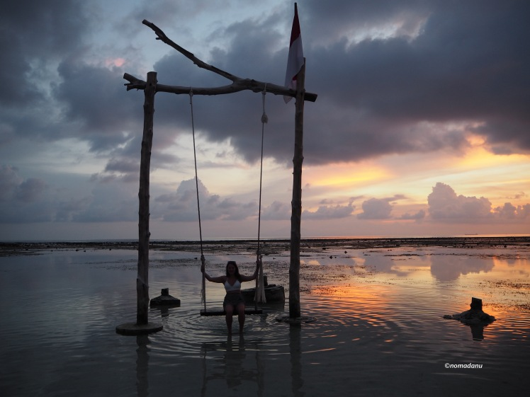 The swing in the sea