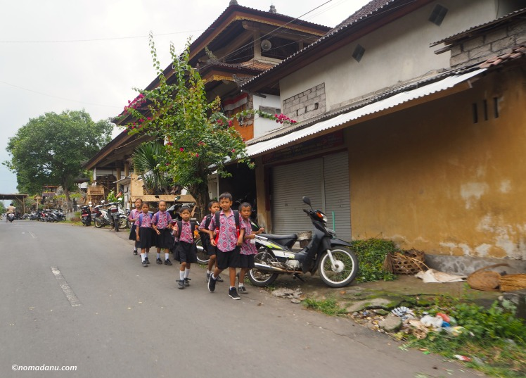 Kids going home from school